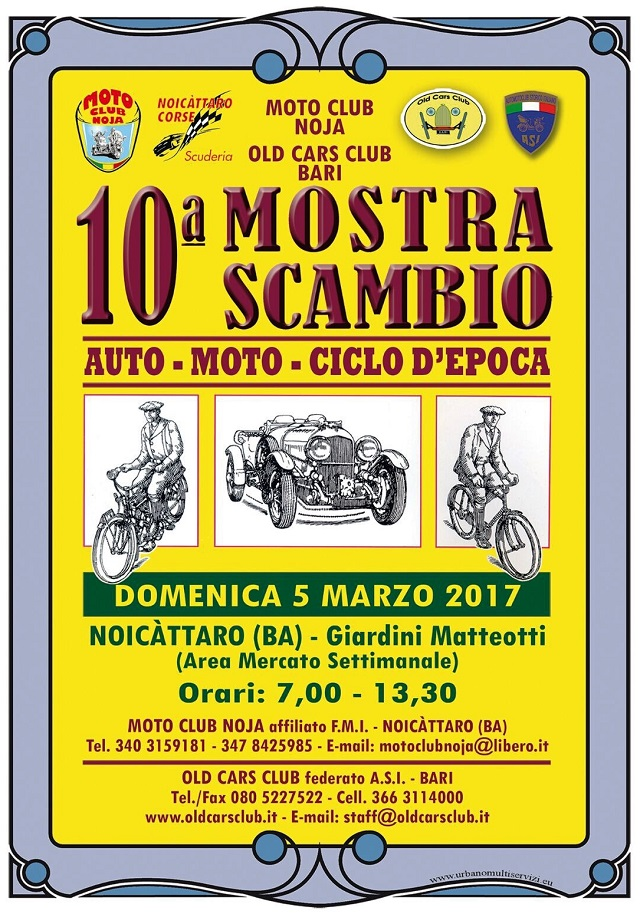 Noicattaro. Mostra scambio Moto Club Noja intero