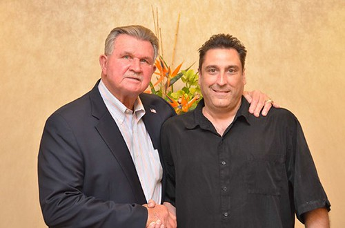 My Dad with former Chicago Bear Mike Ditka | by Vinny Gragg