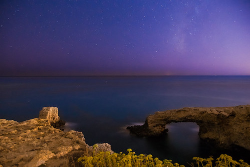 Calm sea under the milkyway | by TeryKats