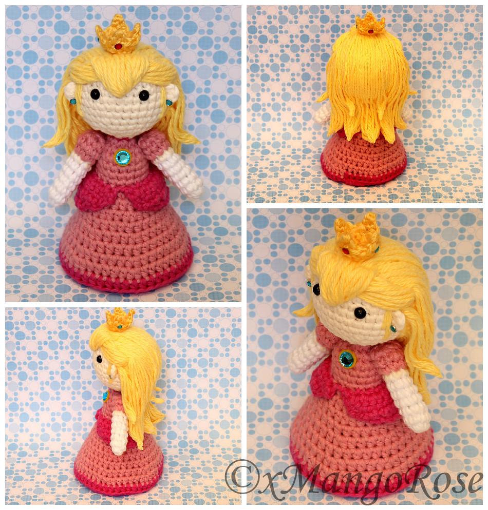 Princess Peach Doll Crochet Pattern Amigurumi Etsy Flickr