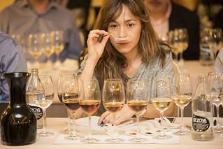 Catando vinos en la edición de Madrid 2014.