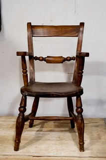 child scroll back arm chair