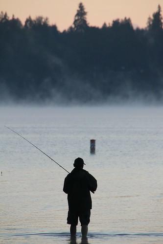 Fishing at dawn lake sammamish ed hansen flickr for Lake sammamish fishing