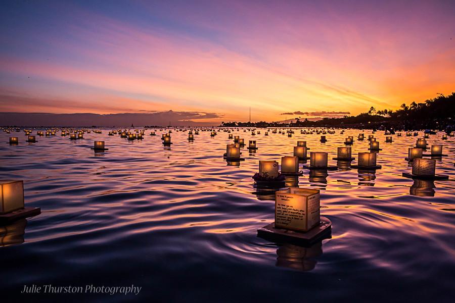 japanese floating lantern ceremony memorial day hawaii flickr