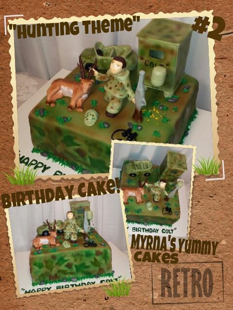 Hunting Themed Birthday Cake By Myrnas Yummy Cakes