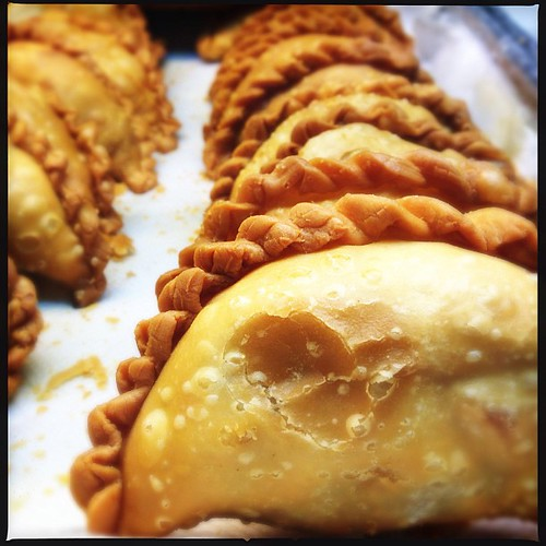 Nobody can fault these right, no matter what time of day it is. Satisfaction! | #food #snack #currypuff | by qwazymonkey
