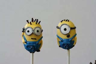 Descpicable Me Minions Cake Pops | by Sweet Lauren Cakes