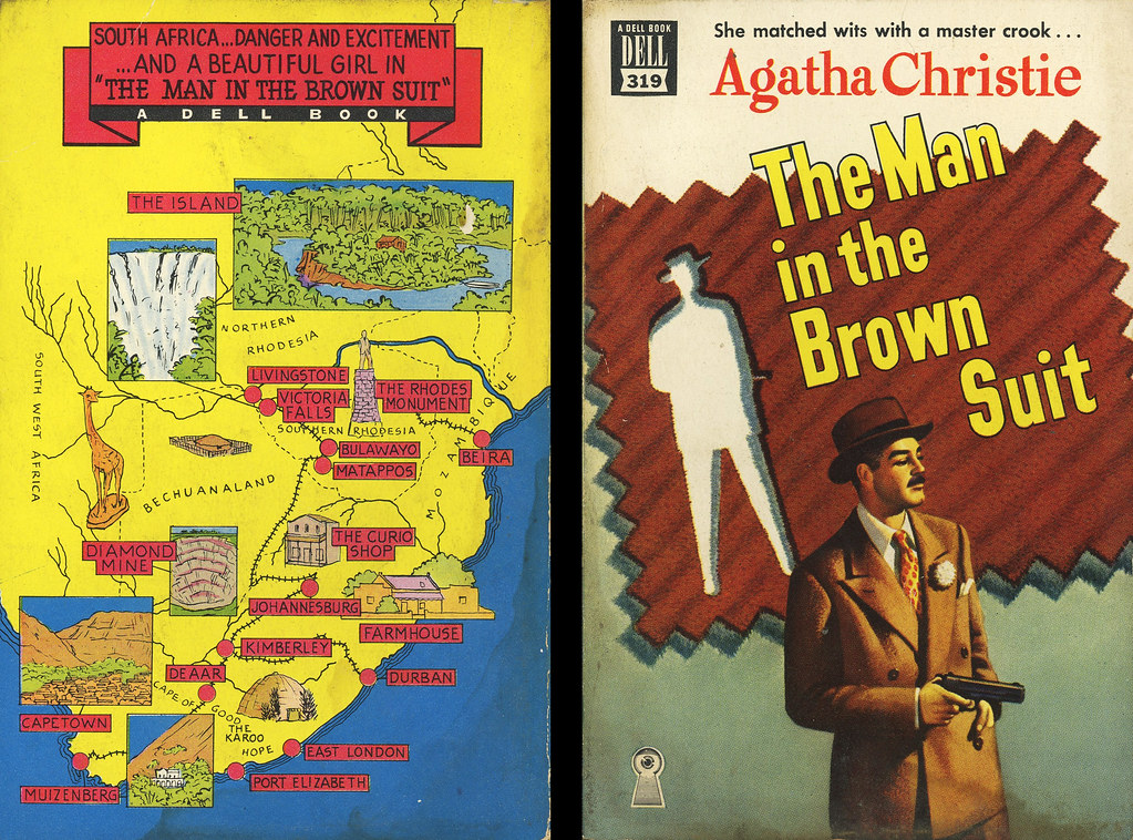 Dell Books 319 - Agatha Christie - The Man in the Brown Su… | Flickr