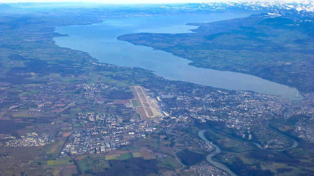 Lake Geneva, Airport and Alps