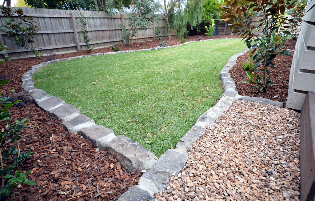 Lovely Bluestone Edging | By Supreme Green Landscaping .
