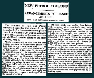 28th April 1949 - Issue of Petrol Coupons | by Bradford Timeline