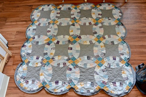Quilt Top with first seam Binding Attached