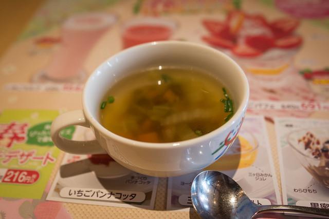 ハンバーグのセットのスープ