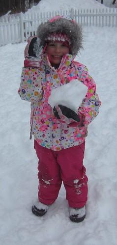 a giant snow chunk