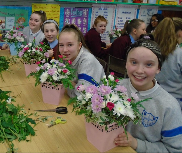 Flower Arranging in 6th Class!