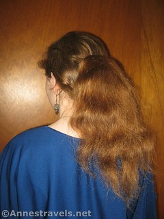 Finished French Twist with Ponytail - 12 Hiking Hairstyles that are Pretty & Practical