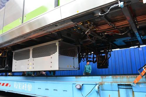 台中捷運綠線電車:車底機電設備