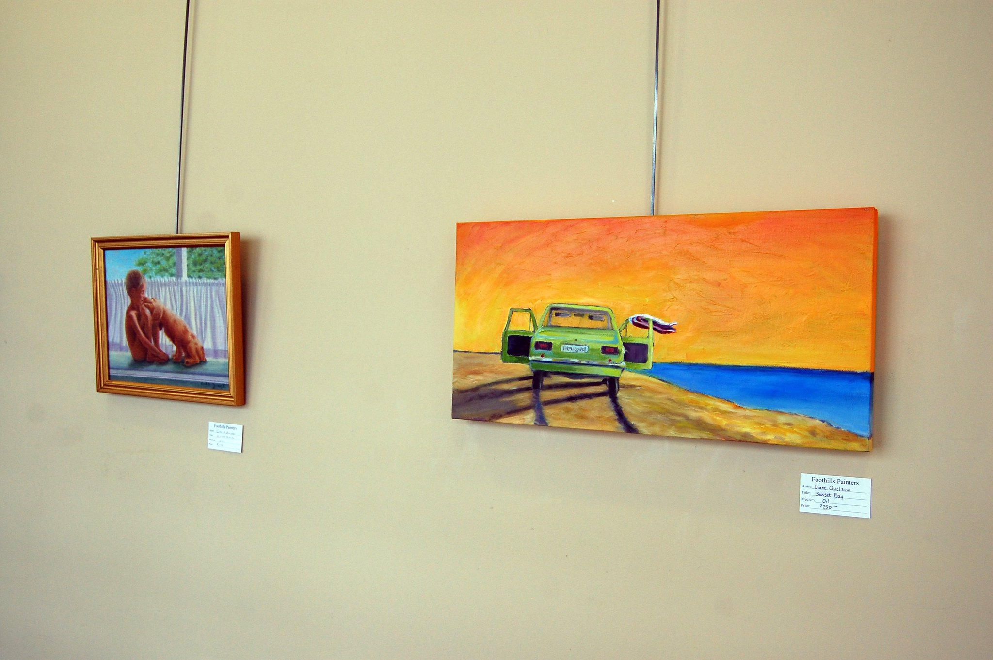 photo of two paintings