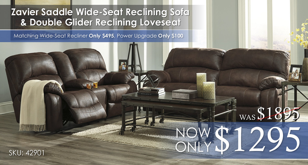 Zavier Saddle Wide Reclining Set