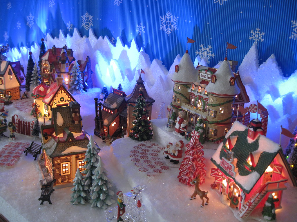 dept 56 north polechristmas village display by halloweenchristmas village collector