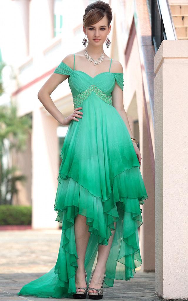 heißer Verkauf moderne grüne Partei Kleider für Frauen | Flickr