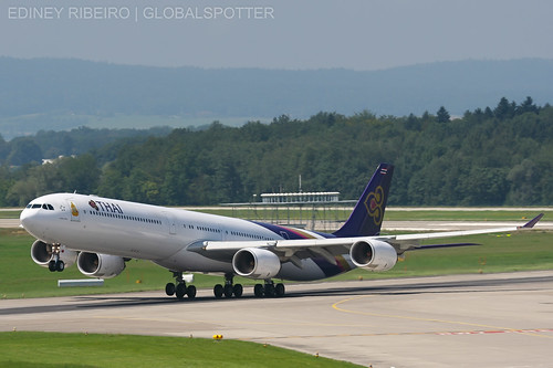 AIRBUS A340-600 THAI AIRWAYS | ZURICH | ZRH-LSZH | by Ediney Ribeiro