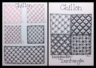 Zentangle® : Tangle Pattern : Chillon | by ha! designs