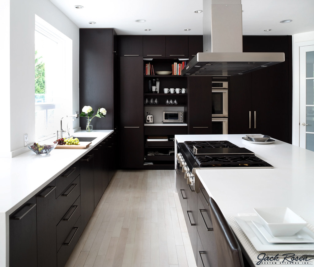 Modern Custom Kitchen Jack Rosen Custom Kitchens  Black And White Modern Kitche…  Flickr