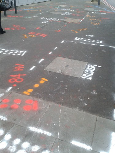 Roadworks Patterns Near Blackfriars Bridge