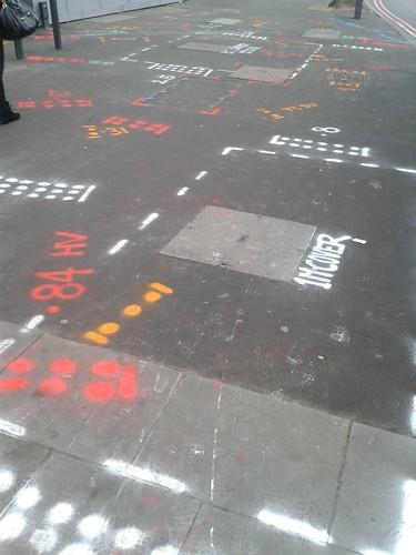 Roadworks Patterns Near Blackfriars Bridge