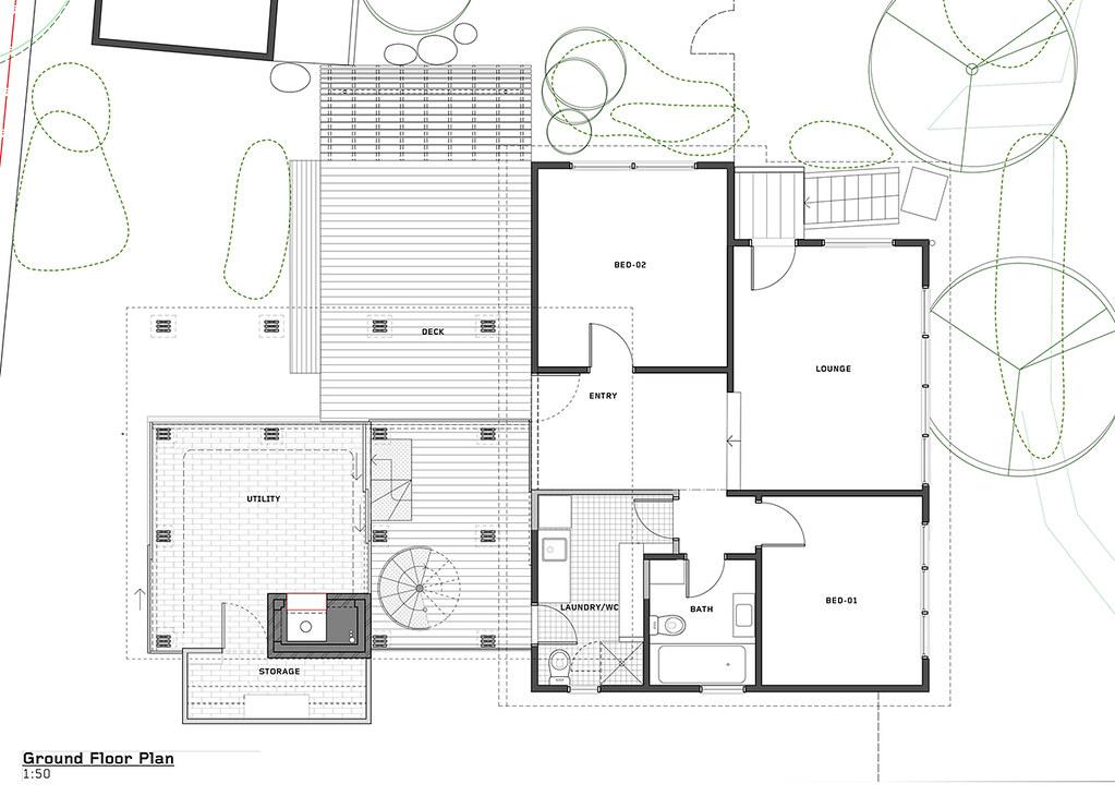 House on stilts design by Austin Maynard Architects in Australia Sundeno_21