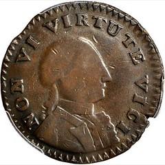 1786 Non Vi Virtute Vici Copper obverse