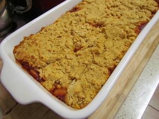 Maple-Baked Beans & Cornbread Casserole