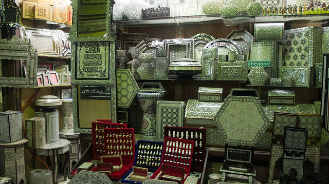 An Arabesque shop in Khan El-Khalili