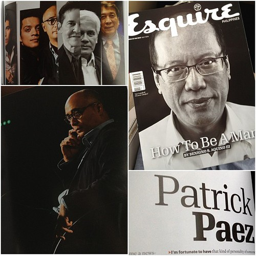 Bragstagram. Patrick is in @esquireph issue of How To Be A Man with no less than the President in the cover. He's featured w Bamboo, @erwanjheussaf, Rudy Farinas etc. Totally astig @trikoy. So proud of my man! | by The Dafinator