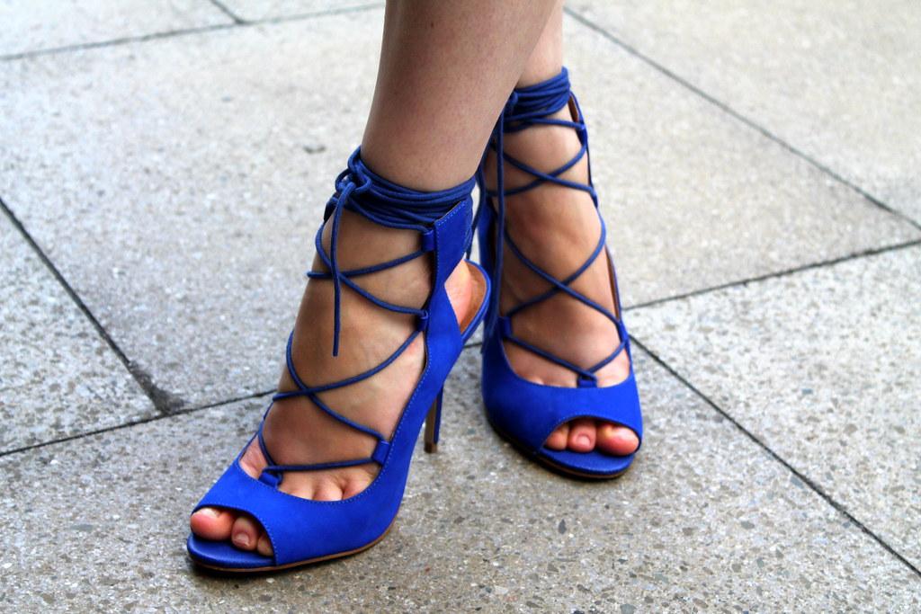 River island blue lace up heels (2)  Laura Hyatt  Flickr