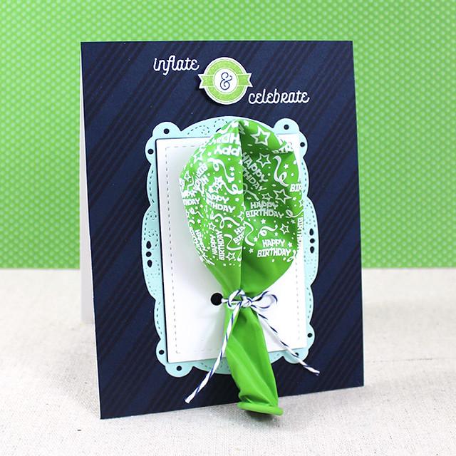 Infalte & Celebrate Balloon Card