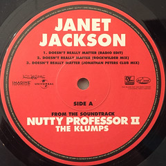 JANET JACKSON:DOESN'T REALLY MATTER(LABEL SIDE-A)