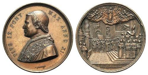 1856 Pope Pio IX Medal