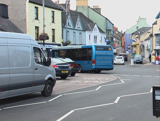Richards Bros Optare Solo bus in Fishguard town centre
