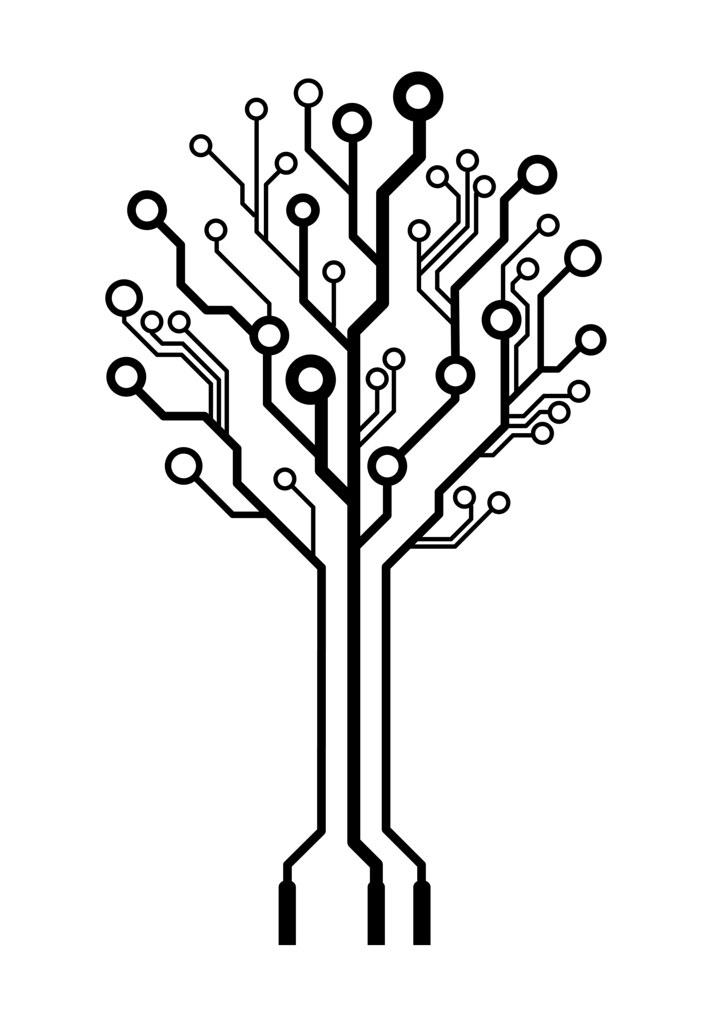 Vector logo circuit board tree | mastermindsro | Flickr