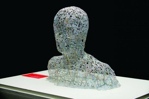 Paper Art Exhibit - Nikki Rosato, Untitled (Portrait)
