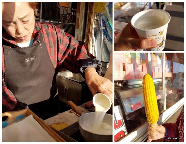 Hokkaido hot milk and corn