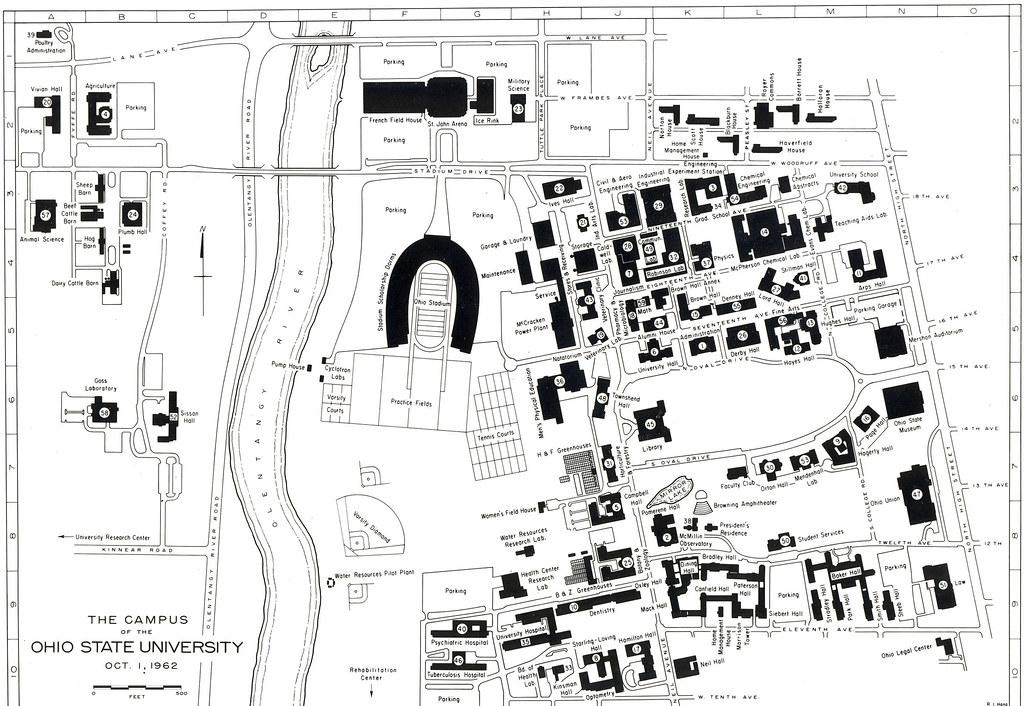 Historic Ohio State Campus Map Itb2c Store