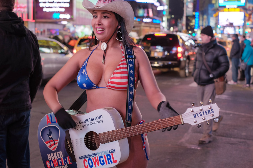 Naked cow girl nyc apologise, but