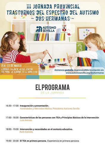 Cartel III Jornada Provincial de Autismo en Dos Hermanas