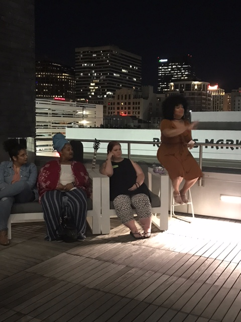 Girl Talk on the Rooftop
