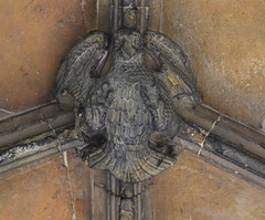 Porch boss: spread eagle (15th Century)