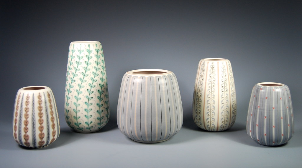 Poole Pottery 1950s Contemporary Vases 10 The Four Vase Flickr