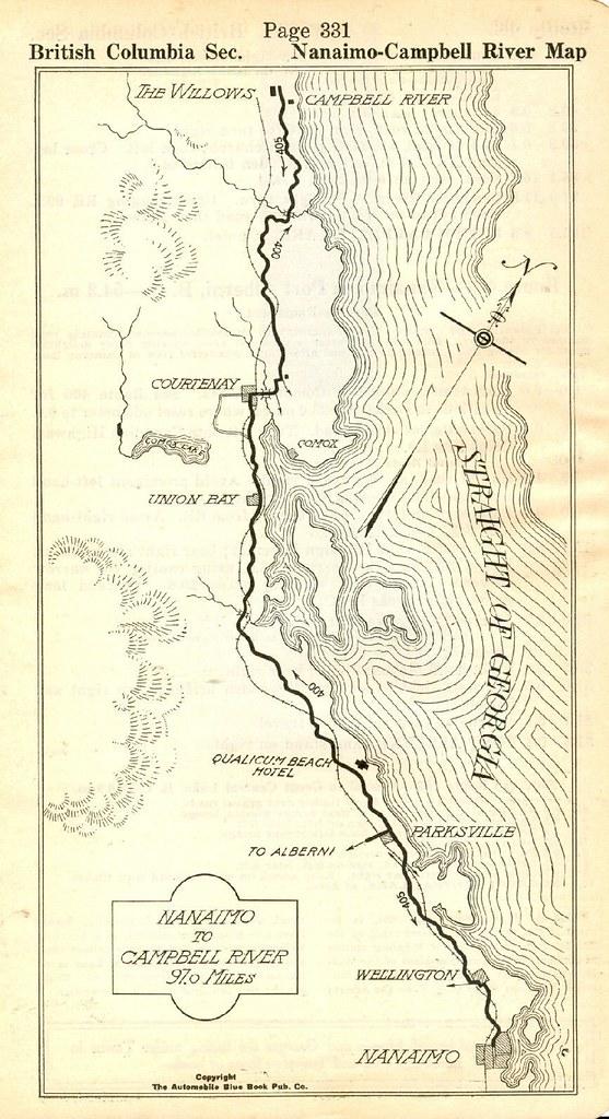 Road Map Island Highway NanaimoCampbell River BC 1919 Flickr